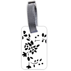 Flower Rose Black Sexy Luggage Tags (two Sides)