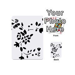 Flower Rose Black Sexy Playing Cards 54 (mini)