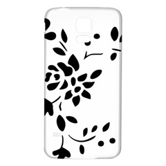 Flower Rose Black Sexy Samsung Galaxy S5 Back Case (white)
