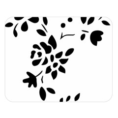 Flower Rose Black Sexy Double Sided Flano Blanket (large)