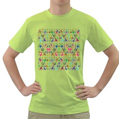 Birds Fish Flowers Floral Star Blue White Sexy Animals Beauty Rainbow Pink Purple Blue Green Orange Green T Shirt