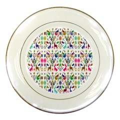 Birds Fish Flowers Floral Star Blue White Sexy Animals Beauty Rainbow Pink Purple Blue Green Orange Porcelain Plates