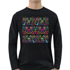 Birds Fish Flowers Floral Star Blue White Sexy Animals Beauty Rainbow Pink Purple Blue Green Orange Long Sleeve Dark T Shirts