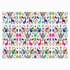 Birds Fish Flowers Floral Star Blue White Sexy Animals Beauty Rainbow Pink Purple Blue Green Orange Large Glasses Cloth (2 Side)