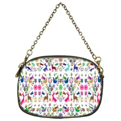 Birds Fish Flowers Floral Star Blue White Sexy Animals Beauty Rainbow Pink Purple Blue Green Orange Chain Purses (one Side)