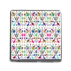 Birds Fish Flowers Floral Star Blue White Sexy Animals Beauty Rainbow Pink Purple Blue Green Orange Memory Card Reader (square)