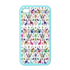 Birds Fish Flowers Floral Star Blue White Sexy Animals Beauty Rainbow Pink Purple Blue Green Orange Apple Iphone 4 Case (color)