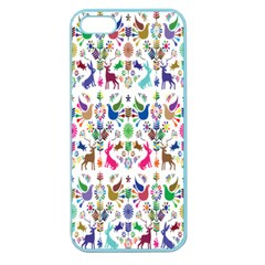 Birds Fish Flowers Floral Star Blue White Sexy Animals Beauty Rainbow Pink Purple Blue Green Orange Apple Seamless Iphone 5 Case (color)