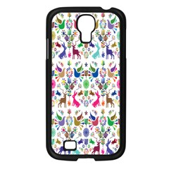 Birds Fish Flowers Floral Star Blue White Sexy Animals Beauty Rainbow Pink Purple Blue Green Orange Samsung Galaxy S4 I9500/ I9505 Case (black)