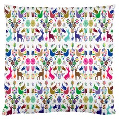 Birds Fish Flowers Floral Star Blue White Sexy Animals Beauty Rainbow Pink Purple Blue Green Orange Large Flano Cushion Case (one Side)