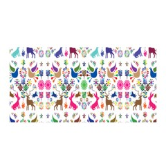 Birds Fish Flowers Floral Star Blue White Sexy Animals Beauty Rainbow Pink Purple Blue Green Orange Satin Wrap