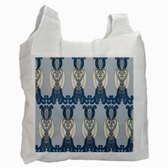 Flower Floral Leaf Beauty Art Recycle Bag (two Side)