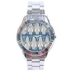 Flower Floral Leaf Beauty Art Stainless Steel Analogue Watch