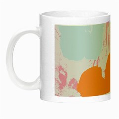 Flower Sunflower Floral Pink Orange Beauty Blue Yellow Night Luminous Mugs