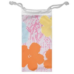 Flower Sunflower Floral Pink Orange Beauty Blue Yellow Jewelry Bag