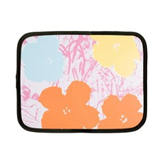 Flower Sunflower Floral Pink Orange Beauty Blue Yellow Netbook Case (small)
