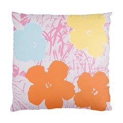 Flower Sunflower Floral Pink Orange Beauty Blue Yellow Standard Cushion Case (two Sides)