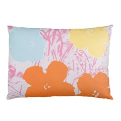 Flower Sunflower Floral Pink Orange Beauty Blue Yellow Pillow Case (two Sides)