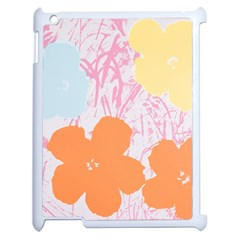 Flower Sunflower Floral Pink Orange Beauty Blue Yellow Apple Ipad 2 Case (white)