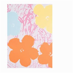 Flower Sunflower Floral Pink Orange Beauty Blue Yellow Large Garden Flag (two Sides)