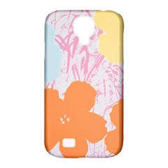 Flower Sunflower Floral Pink Orange Beauty Blue Yellow Samsung Galaxy S4 Classic Hardshell Case (pc+silicone)