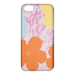 Flower Sunflower Floral Pink Orange Beauty Blue Yellow Apple Iphone 5c Hardshell Case