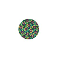 Discrete State Turing Pattern Polka Dots Green Purple Yellow Rainbow Sexy Beauty 1  Mini Buttons