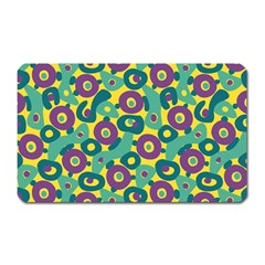 Discrete State Turing Pattern Polka Dots Green Purple Yellow Rainbow Sexy Beauty Magnet (rectangular)