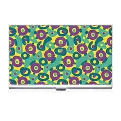 Discrete State Turing Pattern Polka Dots Green Purple Yellow Rainbow Sexy Beauty Business Card Holders