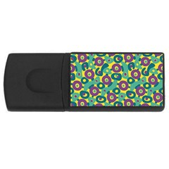 Discrete State Turing Pattern Polka Dots Green Purple Yellow Rainbow Sexy Beauty Rectangular Usb Flash Drive