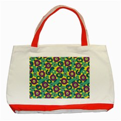 Discrete State Turing Pattern Polka Dots Green Purple Yellow Rainbow Sexy Beauty Classic Tote Bag (red)