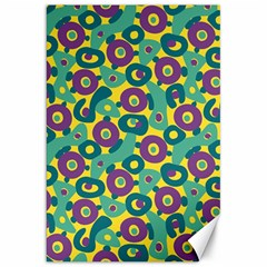 Discrete State Turing Pattern Polka Dots Green Purple Yellow Rainbow Sexy Beauty Canvas 20  X 30