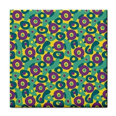 Discrete State Turing Pattern Polka Dots Green Purple Yellow Rainbow Sexy Beauty Face Towel