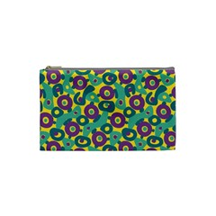 Discrete State Turing Pattern Polka Dots Green Purple Yellow Rainbow Sexy Beauty Cosmetic Bag (small)