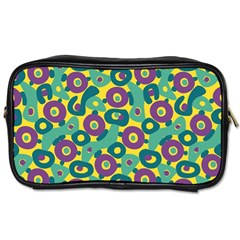 Discrete State Turing Pattern Polka Dots Green Purple Yellow Rainbow Sexy Beauty Toiletries Bags