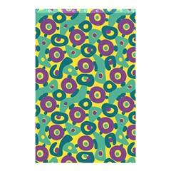 Discrete State Turing Pattern Polka Dots Green Purple Yellow Rainbow Sexy Beauty Shower Curtain 48  X 72  (small)