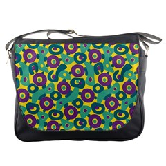 Discrete State Turing Pattern Polka Dots Green Purple Yellow Rainbow Sexy Beauty Messenger Bags