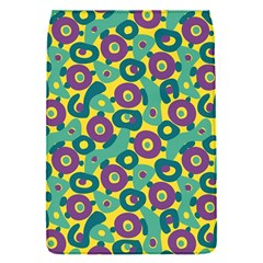 Discrete State Turing Pattern Polka Dots Green Purple Yellow Rainbow Sexy Beauty Flap Covers (s)