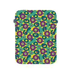 Discrete State Turing Pattern Polka Dots Green Purple Yellow Rainbow Sexy Beauty Apple Ipad 2/3/4 Protective Soft Cases