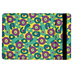 Discrete State Turing Pattern Polka Dots Green Purple Yellow Rainbow Sexy Beauty Ipad Air Flip
