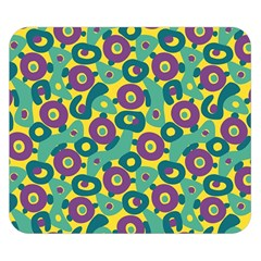 Discrete State Turing Pattern Polka Dots Green Purple Yellow Rainbow Sexy Beauty Double Sided Flano Blanket (small)