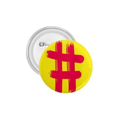 Fun Ain t Gone Fence Sign Red Yellow Flag 1 75  Buttons