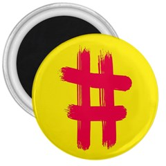 Fun Ain t Gone Fence Sign Red Yellow Flag 3  Magnets