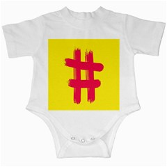 Fun Ain t Gone Fence Sign Red Yellow Flag Infant Creepers