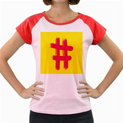 Fun Ain t Gone Fence Sign Red Yellow Flag Women s Cap Sleeve T Shirt