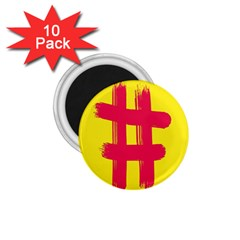 Fun Ain t Gone Fence Sign Red Yellow Flag 1 75  Magnets (10 Pack)