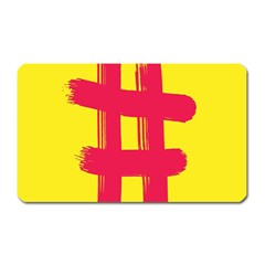 Fun Ain t Gone Fence Sign Red Yellow Flag Magnet (rectangular)