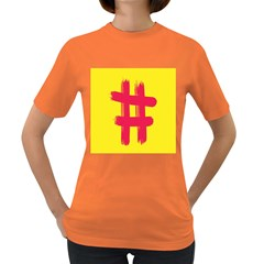 Fun Ain t Gone Fence Sign Red Yellow Flag Women s Dark T Shirt