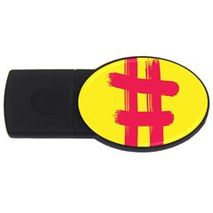Fun Ain t Gone Fence Sign Red Yellow Flag Usb Flash Drive Oval (4 Gb)