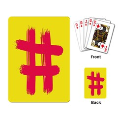 Fun Ain t Gone Fence Sign Red Yellow Flag Playing Card
